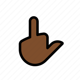 bird, finger, gestures, hand, middle, touch icon
