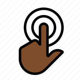 click, double, gestures, hand, touch icon