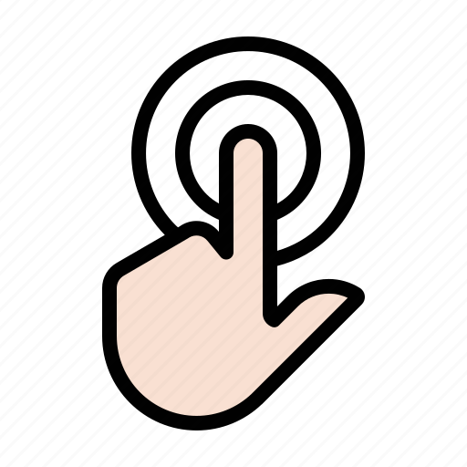 doubleclick, gestures, hand, touch icon