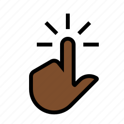 click, finger, gestures, hand, touch icon