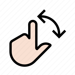 finger, gestures, hand, rotate, touch icon