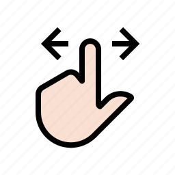 finger, gestures, hand, slide, touch icon