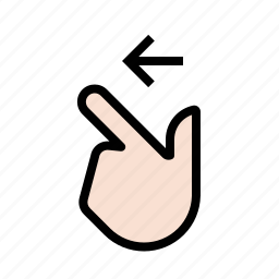 finger, gestures, hand, left, swipe, touch icon