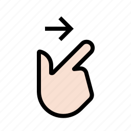 finger, gestures, hand, right, swipe, touch icon