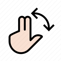 fingers, gestures, hand, rotate, touch icon