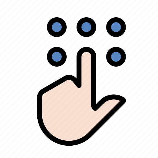 gestures, hand, keypad, touch icon