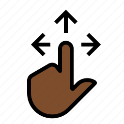gestures, hand, move, touch icon