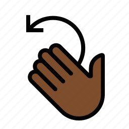 gestures, hand, left, rotate, touch icon