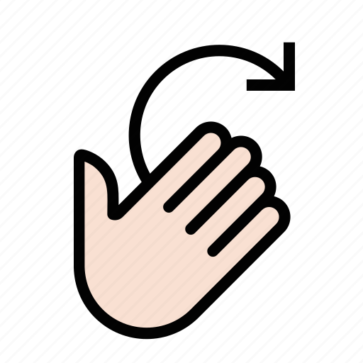 gestures, hand, right, rotate, touch icon