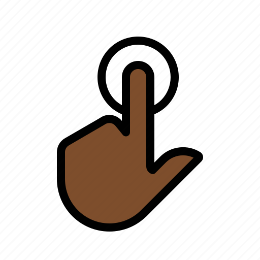 click, gestures, hand, single, touch icon