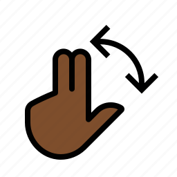 finger, gestures, hand, rotate, touch, two icon