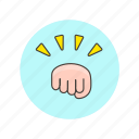 bump, conflict, fight, fist, gesture, hand, hit, punch icon