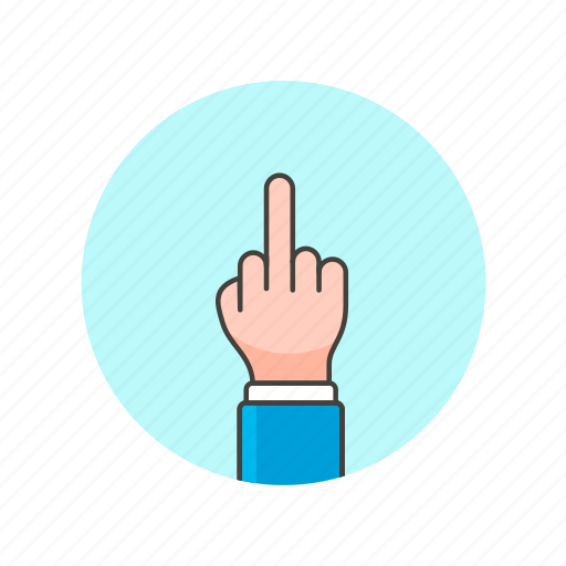 finger, fuck, gesture, hand, middle, rude, sign, you icon