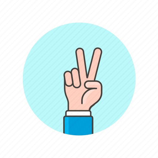 fingers, gesture, hand, palm, peace, truce, victory icon