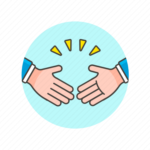 agreement, business, deal, gesture, hand, partners, seal, shake icon