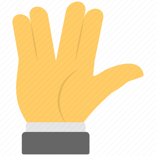 communication, four fingers, gestures, live long, spaces sign icon