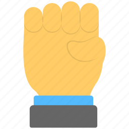 anger sign, fist, five fingers, full hand, hand gestures icon