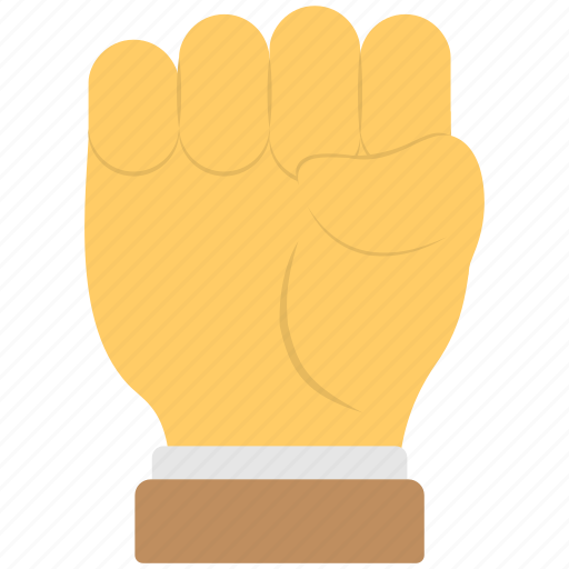 anger, fist, five fingers, hand icons, sign of power icon