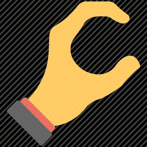 fingers, five fingers, full hand, hand gestures, open loop icon