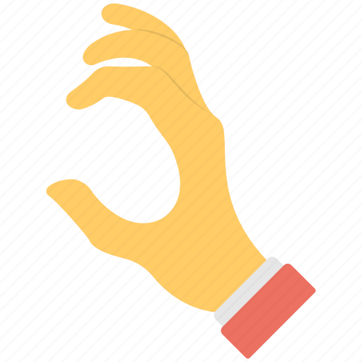 all fingers, c shape, five fingers, hand, hand gesture icon
