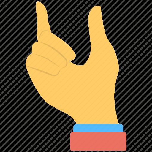 gestures, hand, index finger, open loop, thumb icon