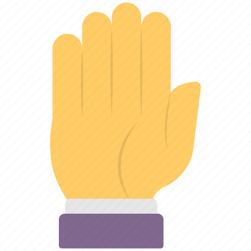 five finger, hand gesture, palm closed, stop sign, tightly closed icon