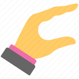 all fingers, clarify sign, flat icon, full hand, hand signs icon