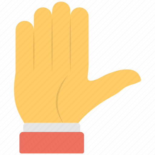 closed fingers, full hand, hand gesture, signs, stop sign icon