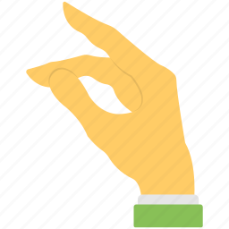 five fingers, hand gestures, hand sign, making hole, thumb icon