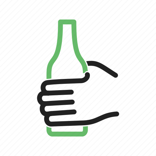 bottle, cup, hand, holding, juice, mug, water icon