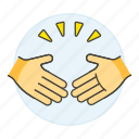 business, compromise, partners, hand, shake, agreement, concession, deal, agree, gestures icon