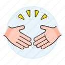 hand, compromise, agreement, business, partners, shake, concession, gestures, agree, deal icon