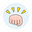 battle, bump, combat, conflict, fight, fist, force, gestures, hand, hit, power, punch, ready icon