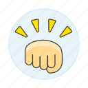 hand, conflict, battle, hit, force, punch, gestures, combat, bump, fight, fist, ready, power icon