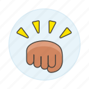 bump, conflict, gestures, battle, combat, power, ready, punch, fist, force, hand, hit, fight icon