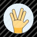 2, alien, gesture, gestures, hand, palm, salute, spock, star, trek, vulcan icon