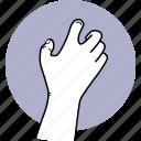 hand, grab, grasp, catch, gesture icon