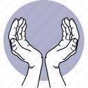 hand, protect, taking care, caring, handle, fingers icon