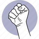 hand, gestures, angry, revolution, protest, protester, fist