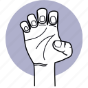 hand, claw, grab, gesture, finger, fingernail, angry icon
