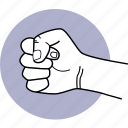 hand, punch, punching, fist icon