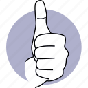 hand, good, thumb up, recommend, like, praise, best icon
