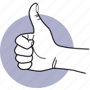 hand, good, recommend, recommended, like, praise, thumb up icon