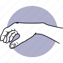 hand, point, grab, take, taking, grabbing, gesture icon