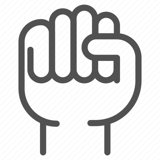 fist, force, hand, human, protest, revolution, strength icon
