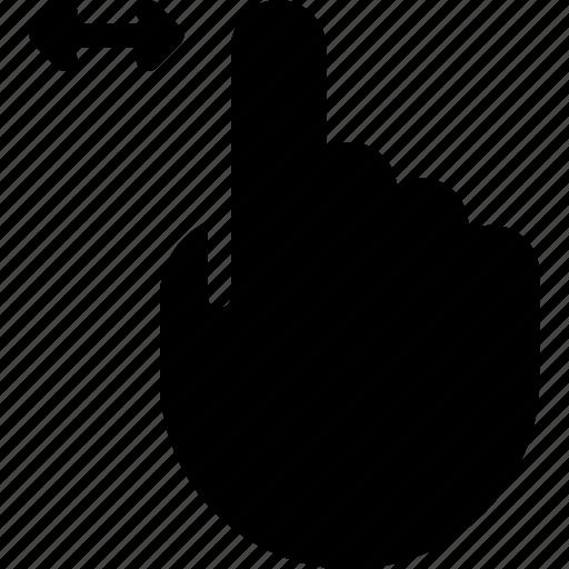 finger, left, move, one, right, slide icon