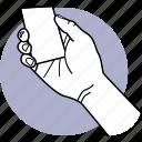 card, member, credit, hand, finger, holding, business