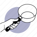 pot, hand, holding, kitchen, utensil, pan, saucepan icon