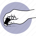 hand, erase, eraser, erasing, rubber, holding icon