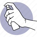 cleaning, spray, spraying, hand, holding, sprayer, cleaner icon